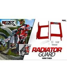 proteges radiateur GASGAS 125/250/300 EC 07-15 rouge 4MX