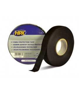 Ruban adhésif coton noir HPX 19mm x 25m