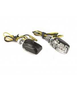 Clignotants micro LED Bihr noirs cabochons blancs