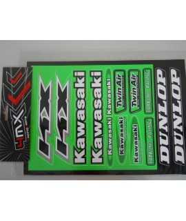 planche sticker KAWASAKI 23cm x 32cm
