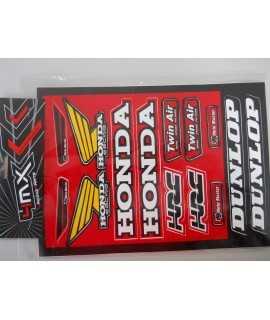 planche sticker HONDA 23cm x 32cm