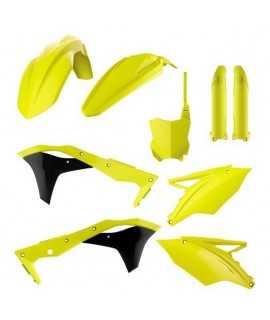 kit plastique 250 KXF 17- jaune fluo POLISPORT