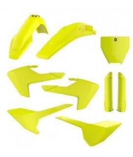 kit plastique jaune fluo POLISPORT HUSQVARNA TC et FC 16-