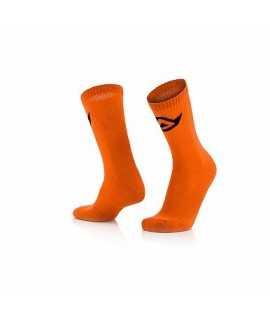 chaussette ACERBIS coton orange fluo