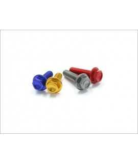 DRC aluminium M6 16mm 20 pièces rouges