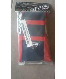 housse bud racing 450 CRF 17-18, 250 CRF 18 noir et rouge bandes rouges