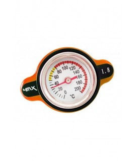 bouchon radiateur 4MX 1.8 thermomêtre orange sx/f 16-20 et kx/f, yz/f rm/z, cr/f