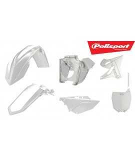 kit plastique POLISPORT 125/250 YZ 02-18 transparent avec boite à air