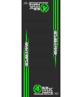 tapis de sol 4MX PARTS vert 200X80cm