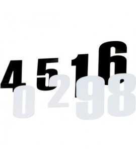 """numero noir 6"""" (15cm)"""