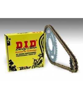 Kit chaîne D.I.D 520 type ERT2 13/50 (couronne ultra-light) Suzuki RM250