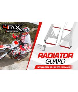proteges radiateur BETA 250/300 RR 13-18 rouge 4MX
