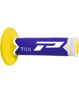 poignées PRO GRIP 788 bleu jaune blanc