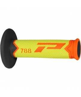 poignées PRO GRIP 788 noir jaune fluo orange
