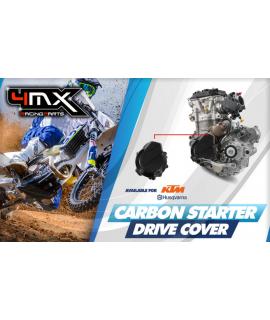 couvre carter allumager carbon 4MX KTM et HVA 250-350cc 4T 2017-2019