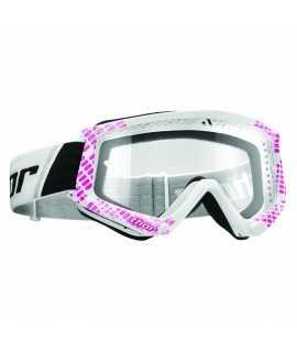 masque combat goggles cap pink/white