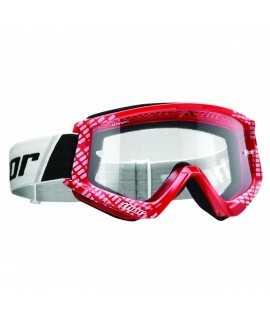 masque combat goggles cap red/white