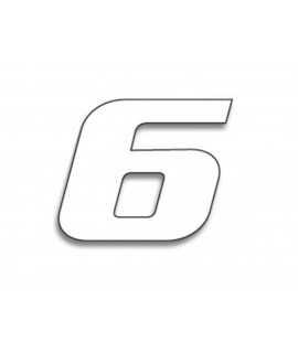 Numéro de course 6 BLACKBIRD 20x25cm blanc