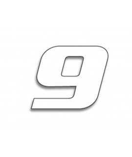 Numéro de course 9 BLACKBIRD 20x25cm blanc