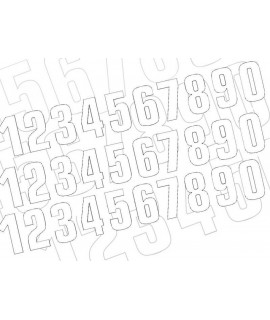 Numéro de course 2 BLACKBIRD 16x7,5cm blanc
