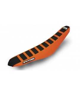 Housse de selle BLACKBIRD Zebra noire/orange KTM EXC/F 12-16 et SX/SX-F 11-15