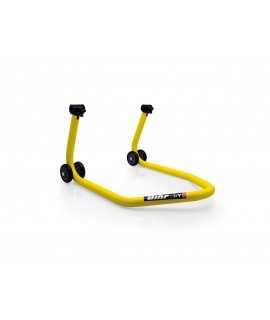 """Béquille arrière BIHR BY LV8 avec support caoutchouc """"L"""" jaune universel"""