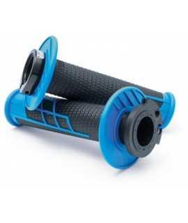 poignées PRO TAPER CLAMP ON 1/2 waffle bleu noir
