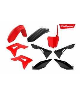 Kit plastique POLISPORT 250 CRF 18-19, 450 CRF 17-19 rouge et noir