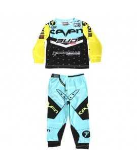 Pyjama BUD Racing Bleu/Jaune 2 pièce