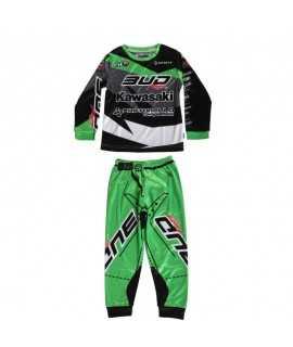 Pyjama BUD Racing vert 2 pièce