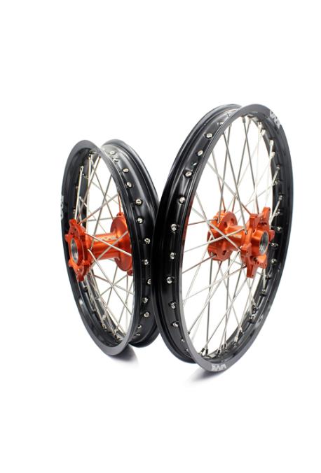 paire VMX KTM 85 SX 13-20 orange / noir grande roue