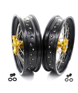 paire VMX supermotard 400 DRZ 00-18 gold noir