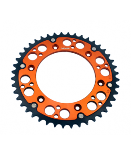 couronne VMX bi-metal orange noir pour KTM SX/F et EXC/F