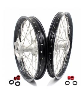 roue arriere VMX BETA RR 13-19 en 215 X 18 silver / noir