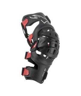 Genouillere Alpinestars Bionic-10 Carbon Noir/Rouge