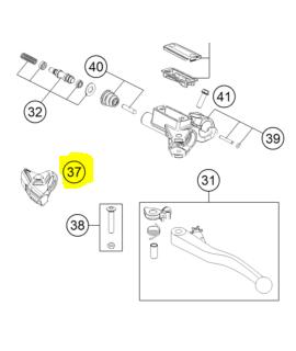 Protecteur Gomme Levier Embrayage Husqvarna FC 250/350/450 16-17 TC 125 16-19