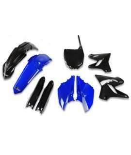 kit plastique UFO 125 et 250 YZ 15-21 noir bleu edition limitée