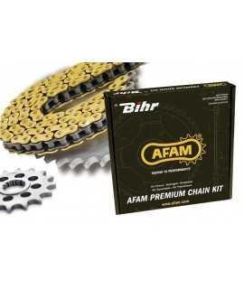 Kit chaine AFAM 520 type XLR2 14x39 KAWASAKI KDX250 91-95