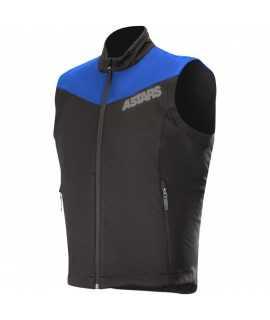 veste sans manche alpinestars session race bleu noir