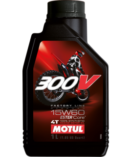 huile MOTUL 300V FACTORY line off road 15w60 100% synthèse 4L