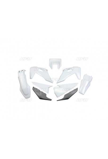 Paire de prot/ège-mains blancs cross enduro Mx vintage plastiques Cemoto