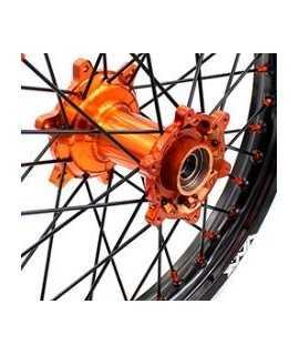 jeu moyeux avant + arriere orange VMX KTM 03-19 et HUSQVARNA 2014-2019