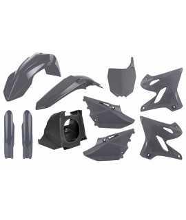 kit plastique POLISPORT 125/250 YZ 02-20 gris avec boite à air