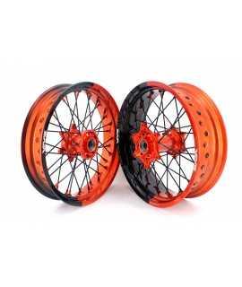 paire VMX SuperMotard KTM SX/F EXC/F 03-19 orange noir bi color