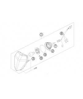 optique phare KTM EXC / F 08-13