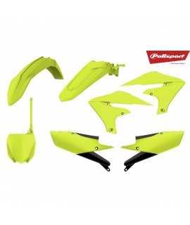 kit plastique POLISPORT 450 YZF 18-20 et 250 YZF 19-20 jaune fluo