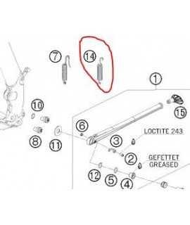 ressort bequille KTM EXC/F 07-16 n°14