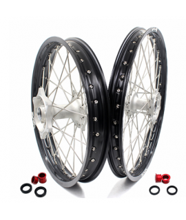 roue arriere VMX BETA RR 08-12 en 215 X 18 silver / noir