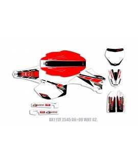 Kit Déco ARC 250/450 yzf 06-09 rouge blanc