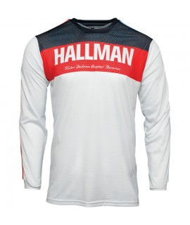 Maillot THOR HALLMAN TAPD air blanc rouge